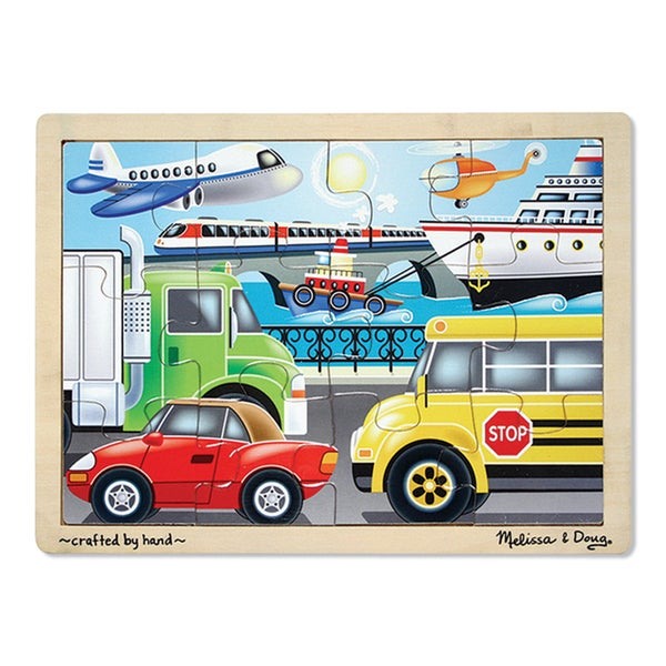 Melissa & Doug 'On the Go- Vehicles' 12-piece Jigsaw Puzzle