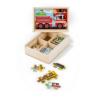 Mellisa n Doug Vehicle Puzzles in a Box