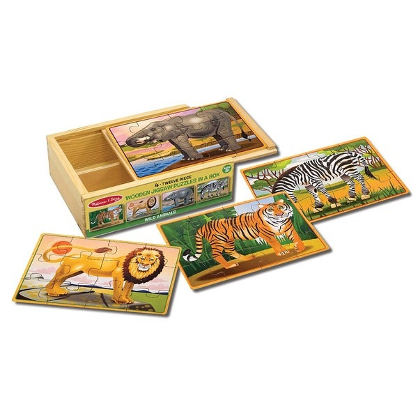 Melissa & Doug Wild Animals Puzzle in a Box