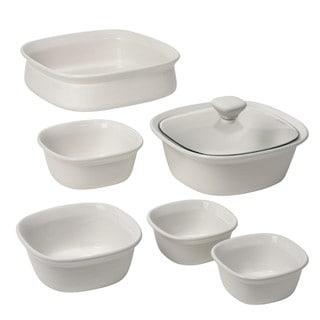 CorningWare Etch 7-piece White Bakeware Set
