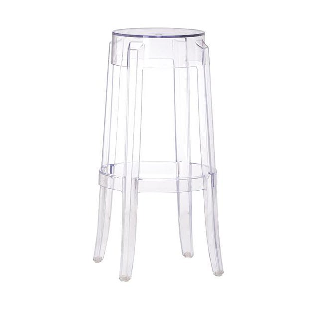 29.5-inch High Zuo Anime Polycarbonate Transparent Barstool (set of 4)