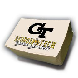NCAA Georgia Tech Yellow Jackets Rectangle Patio Set Table Cover - Thumbnail 2