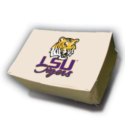 LSU Tigers Rectangle Patio Set Table Cover - Thumbnail 1