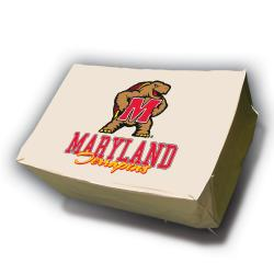 NCAA Maryland Terrapins Rectangle Patio Set Table Cover - Thumbnail 1