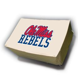 Ole Miss Runnin Rebels Rectangle Patio Set Table Cover - Thumbnail 2