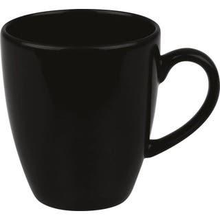 Waechtersbach Fun Factory Black Jumbo Cafelatte Cups (Set of 4)