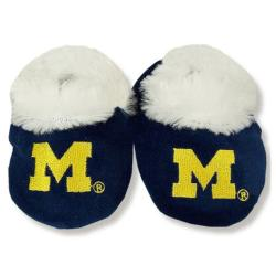 Michigan Wolverines Baby Bootie Slippers - Thumbnail 1