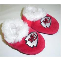 Kansas City Chiefs Baby Bootie Slippers - Thumbnail 1