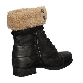 Diba Women's 'Miss You' Black Aviator Boots