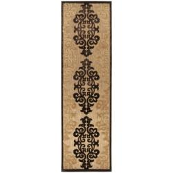 "Woven Fenway Natural Indoor/Outdoor Damask Print Area Rug (2'6 x 7'10) - 2'6"" x 7'10"""