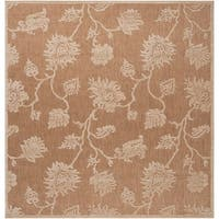 Woven Brookline Indoor/Outdoor Floral Area Rug (7'6 Square)