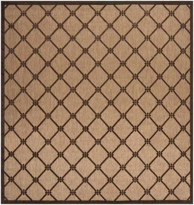 Woven Dorchester Indoor/Outdoor Geometric Rug (7'6 Square)