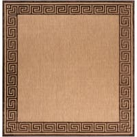 Woven Newbury Indoor/Outdoor Geo Border Area Rug - 7'6