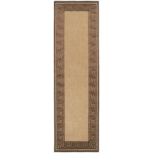 Woven Newbury Indoor/Outdoor Geo Border Rug (2'6 x 7'10)