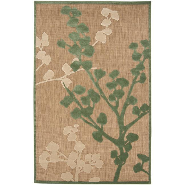 Woven Beacon Indoor/Outdoor Floral Rug (5 x 7'6)