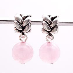Handmade Silvertone Rose Quartz Dangle Charm Beads (Set of 2) (United States)|https://ak1.ostkcdn.com/images/products/5916093/Silvertone-Rose-Quartz-Dangle-Charm-Beads-Set-of-2-P13619066a.jpg?impolicy=medium