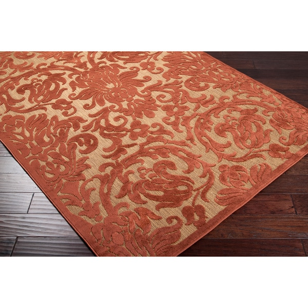 Woven Roxbury Indoor/Outdoor Damask Print Rug (5' x 7'6)