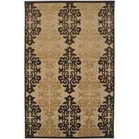 "Woven Fenway Natural Indoor/Outdoor Damask Print Area Rug - 8'8"" x 12'"