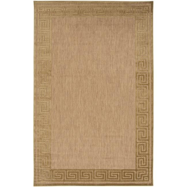 Woven Charlestown Indoor/Outdoor Geo Border Rug (5' x 7'6)