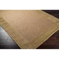 Woven Charlestown Indoor/Outdoor Geo Border Rug (5' x 7'6) - Thumbnail 1