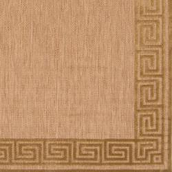Woven Charlestown Indoor/Outdoor Geo Border Rug (5' x 7'6) - Thumbnail 2