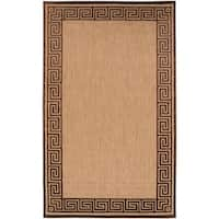 "Woven Newbury Indoor/Outdoor Geo Border Area Rug - 3'9"" x 5'8"""