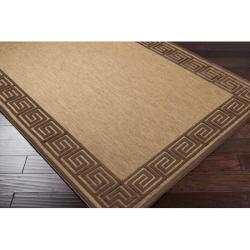 Woven Newbury Indoor/Outdoor Geo Border Rug (5' x 7'6) - Thumbnail 1