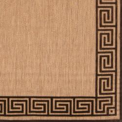 Woven Newbury Indoor/Outdoor Geo Border Rug (5' x 7'6) - Thumbnail 2