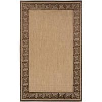 Woven Newbury Indoor/Outdoor Geo Border Area Rug (8'8 x 12')