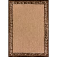 Woven Newbury Indoor/Outdoor Geo Border Area Rug - 8'8 x 12'