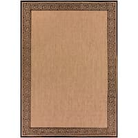 "Woven Newbury Indoor/Outdoor Geo Border Area Rug - 8'8"" x 12'"