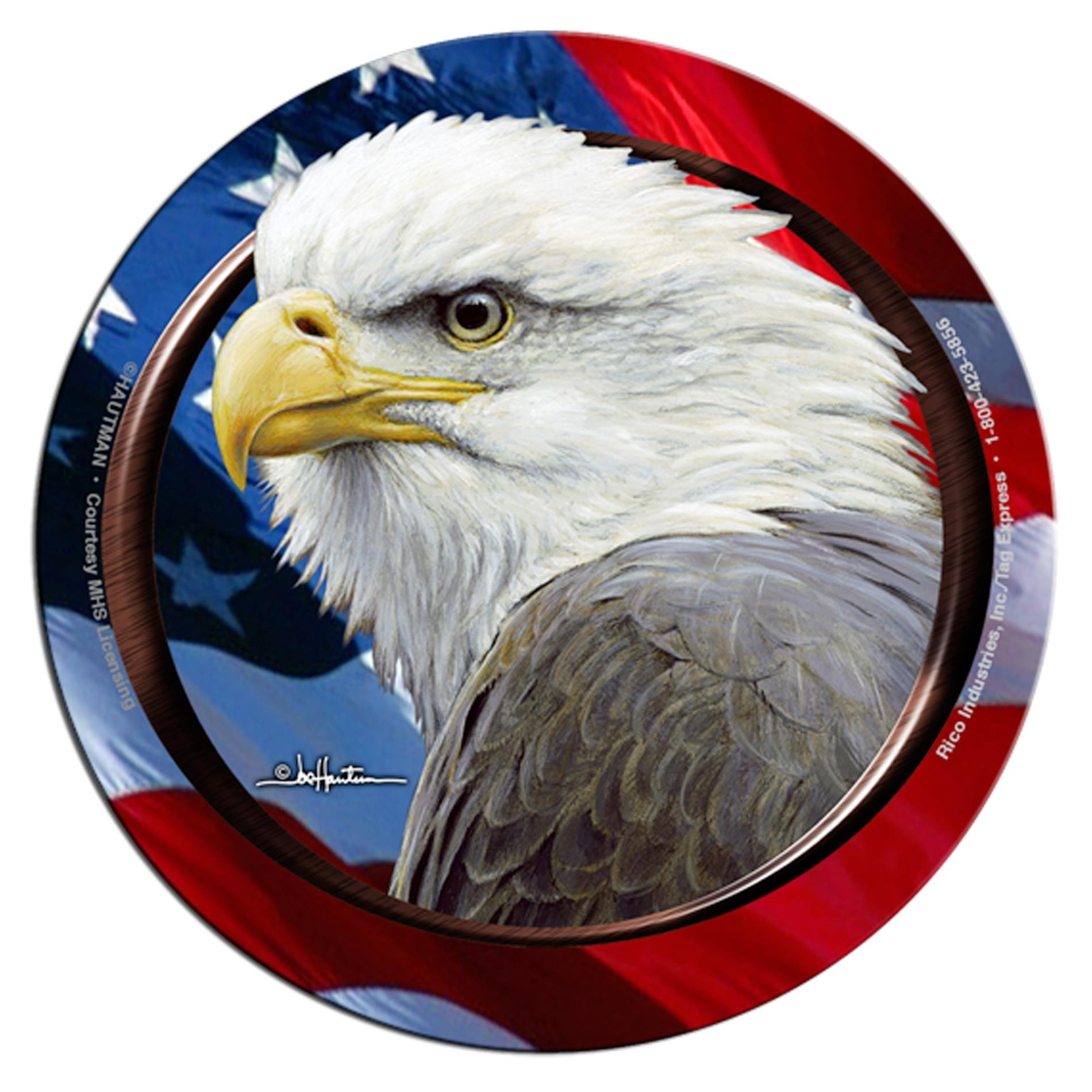 Rico Industries Eagle with Flag Neoprene Coasters (Set of 4)