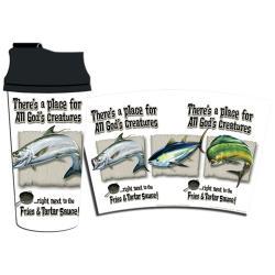 Rico Industries All God's Creatures Salt Plastic Travel Tumbler - Thumbnail 1