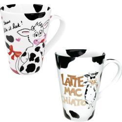 Konitz Mr. and Mrs. Latte Mac Chiato Mugs (Set of 2)