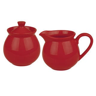 Waechtersbach Fun Factory Red Creamer and Sugar Set