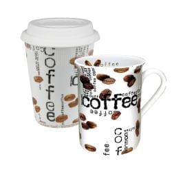 Konitz Coffee to Stay and Coffee to Go Coffee Collage Mugs (Set of 2)