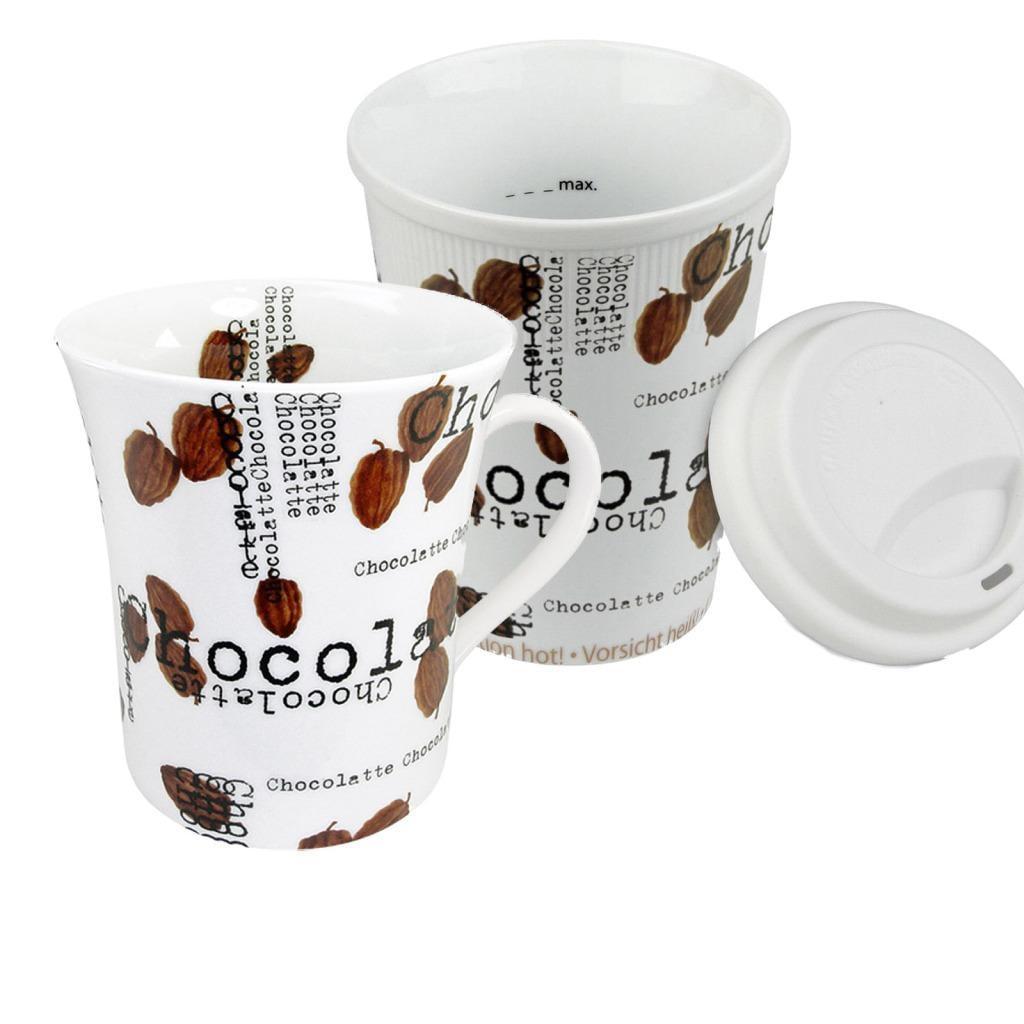 Konitz Coffee to Stay/Coffee to Go Chocolatte Mugs (Set of 2)