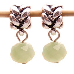 Bleek2Sheek Green Aventurine Crystal Dangle Charm Beads (Set of 2)