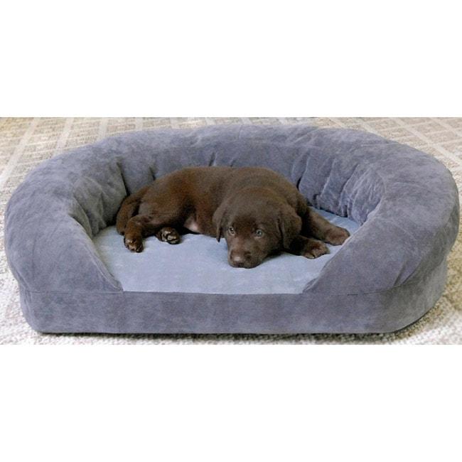 k h manufacturing medium orthopedic bolster velvet pet bed free shipping today. Black Bedroom Furniture Sets. Home Design Ideas
