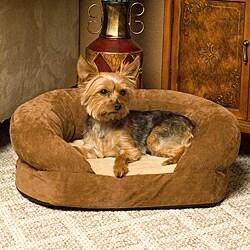 K&H Manufacturing Medium Orthopedic Bolster Velvet Pet Bed