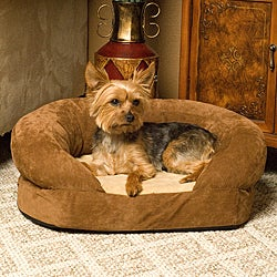 K&H Manufacturing Medium Orthopedic Bolster Velvet Pet Bed