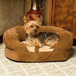Furhaven Plush Amp Suede Sofa Style Orthopedic Bolster Pet
