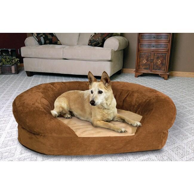 k h manufacturing large orthopedic bolster velvet pet bed free shipping today. Black Bedroom Furniture Sets. Home Design Ideas