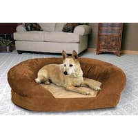 K&H Manufacturing Large Orthopedic Bolster Velvet Pet Bed