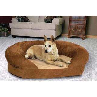K&H Manufacturing Large Orthopedic Bolster Velvet Pet Bed