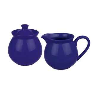 Waechtersbach Fun Factory Royal Blue Creamer and Sugar Set