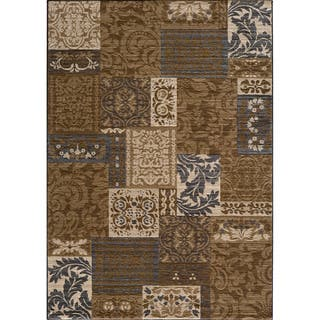 Illusion Power-loomed Damask Brown Rug (9'3 x 12'6)|https://ak1.ostkcdn.com/images/products/5918302/P13620936.jpg?impolicy=medium
