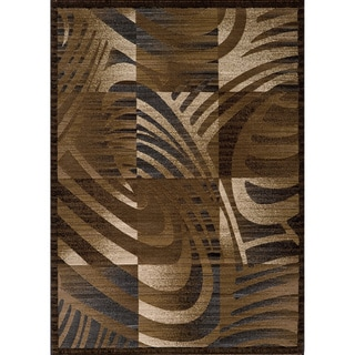 Illusion Power-loomed Multi Abstract Blocks Rug (9'3 x 12'6)