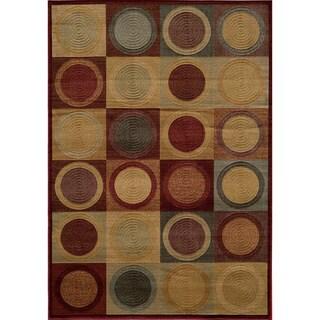 Illusion Power-loomed Circles Blocks Red Rug (9'3 x 12'6) https://ak1.ostkcdn.com/images/products/5918399/P13621025.jpg?_ostk_perf_=percv&impolicy=medium