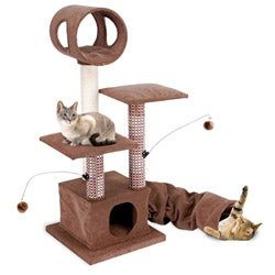 Cat Life Tower, Tunnel and Retreat Hide Away Cat Activity Lounger